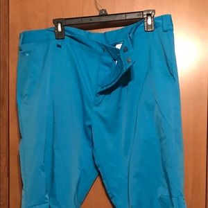 Bright blue Men's Adidas  golf pants
